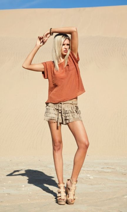 Primark T-Shirt, £8, Tassel Shorts, £14 And Sandals, £18 - Coming Soon