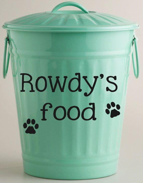 dog food vinyl decal storage by