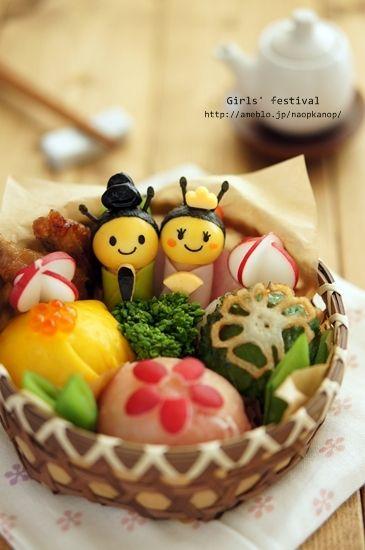 Honeybee doll bento #food #bento