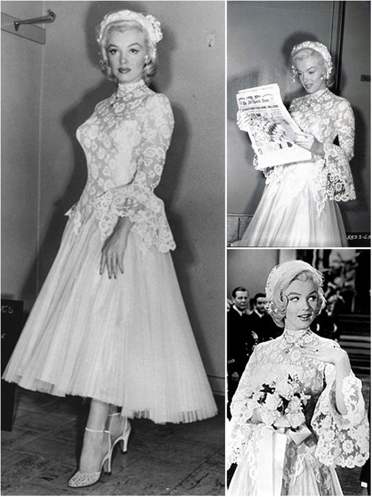 Marilyn Monroe's wedding dress in Gentlemen Prefer Blondes (1953)