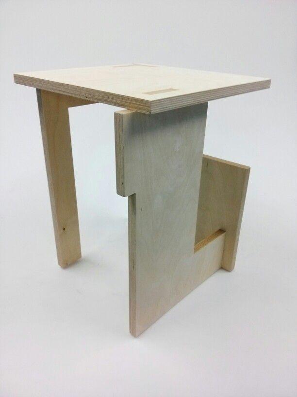 stool (open source design, easy assemly, inspired by de stijl) #stool #destijl
