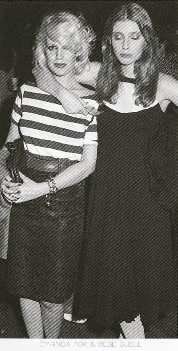 Bebe Buell and Cyrinda Foxe in New York City, 1973. (Both had daughters to Steven Tyler) via Beatricce Holst