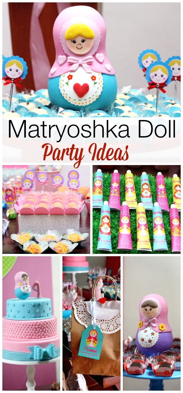 Loving all the beautiful desserts, decorations, and treats at this Matryoshka girl birthday party! See more party ideas at CatchMyParty.com.
