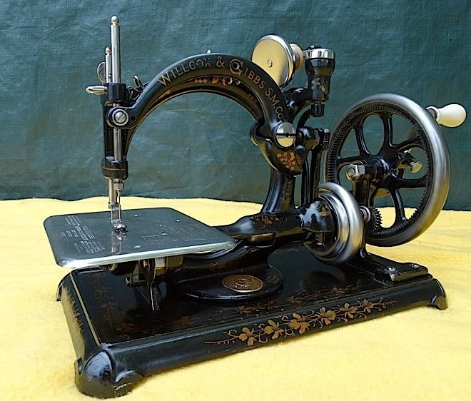 Unusual Antique Willcox Gibbs Hand Crank Sewing Machine Stunning Willcox And Gibbs Sewing Machine