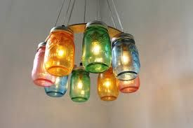 upcycled chandelier