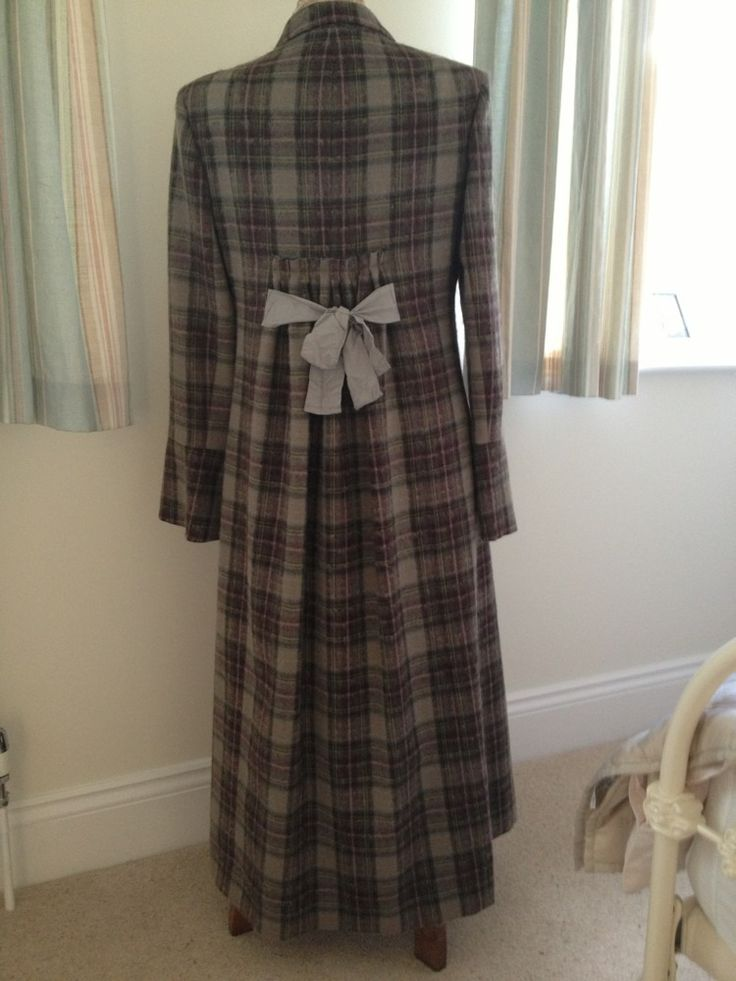 Cabbages And Roses brown check Howard Coat | eBay ...
