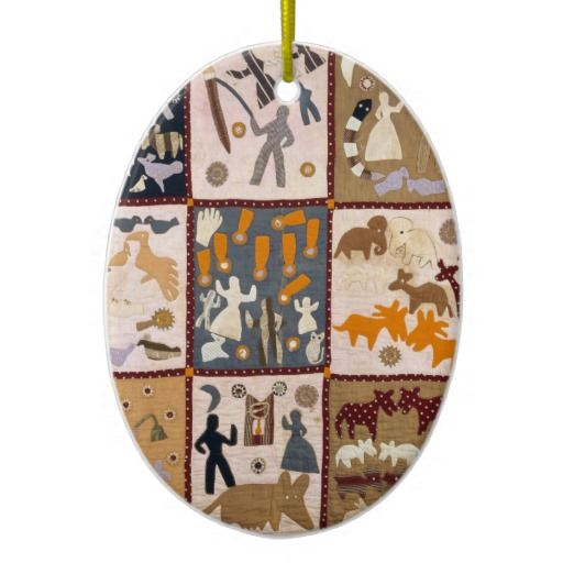 Harriet Powers - Pictoral Quilt 1898 Christmas Ornament (https://twitter.com/HawCreekShop/status/535244124203786240) (http://haw-creek.com/shop/sold-20/)