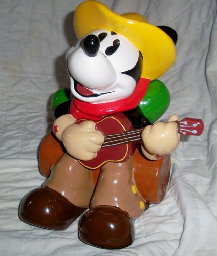 Cowboy Mickey Mouse Cookie Jar made in China by Disney