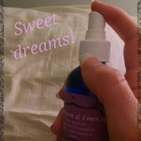 The finished product! In my Lavender Room & Linen Spray I used 1/8 tsp. Epsom salt, 5 drops of Lavender oil, & 4 oz. of water. Allow the Epsom salt to absorb the oil for a few minutes before adding water. This helps to evenly disperse the oil. The fun thing about making a spray is that you can choose whatever combination of oils suits you. I also like 3 drops Cedarwood & 2 drops Lavender, to get me in a relaxing, sleepy mood. I use the spray on my pillows, sheets, & furniture. It can be used…