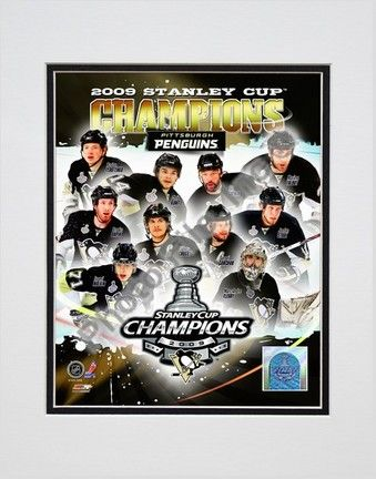 Pittsburgh Penguins 2008 - 2009 Stanley Cup Champions Composite Double Matted 8 x 10 Photograph… #sports #sportsshopping #sportswear