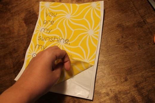 Printing on fabric using freezer paper tutorial.