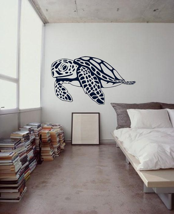 Large Hawaiian Sea Turtles Cruisin - Surf Art Culture - Roxy Billabong Retro decor - Vinyl wall art graphic decals by 3rd Ave Shore