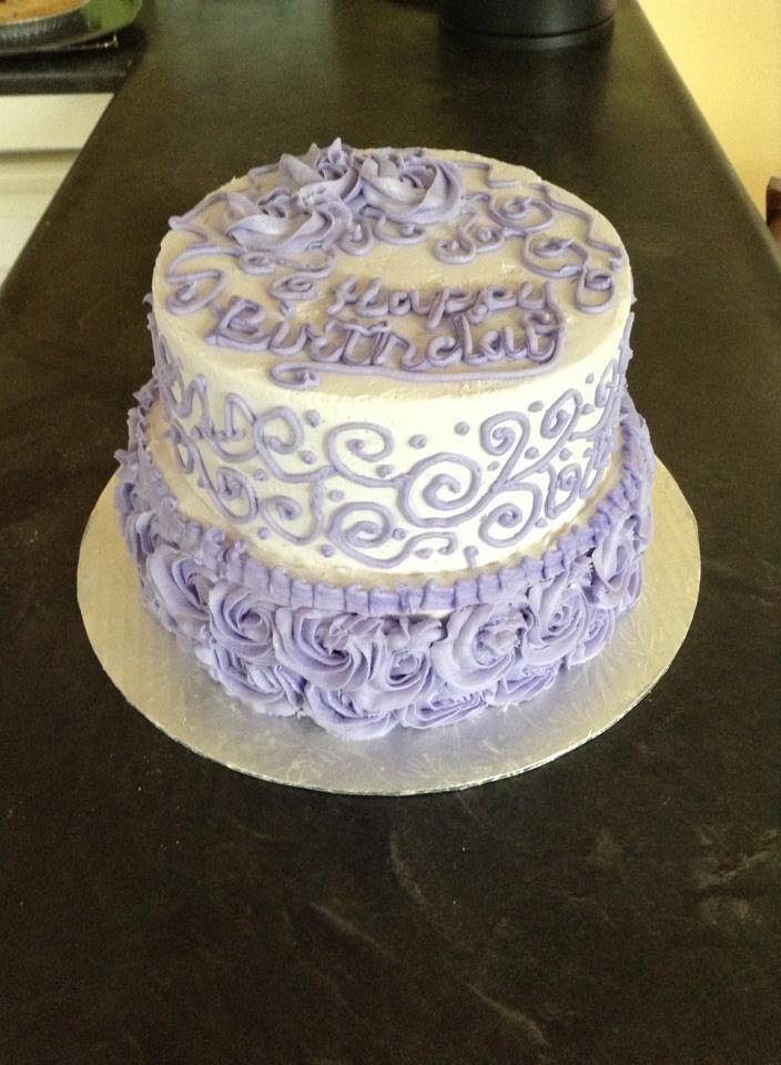 Cream Birthday Cake