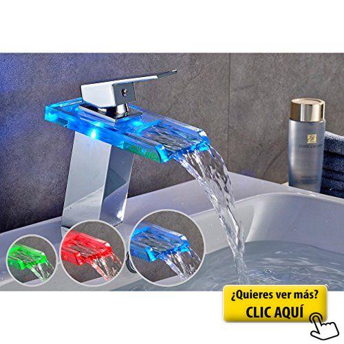 Auralum grifo de lavabo grifo moderno cascada grifo - Grifos para bano ...