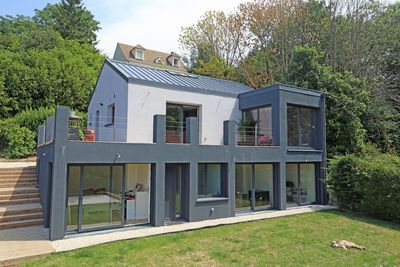 extension maison b ton de 47 m2 montmorency par une architecte verandas extensions and sons. Black Bedroom Furniture Sets. Home Design Ideas