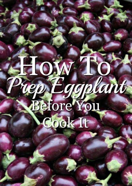 Preparing Eggplant Before you Cook It