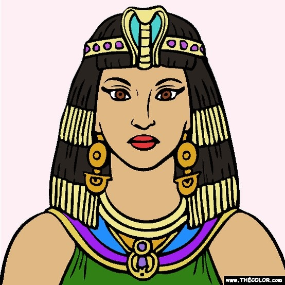 cleopatra egyptian coloring pages - photo#31