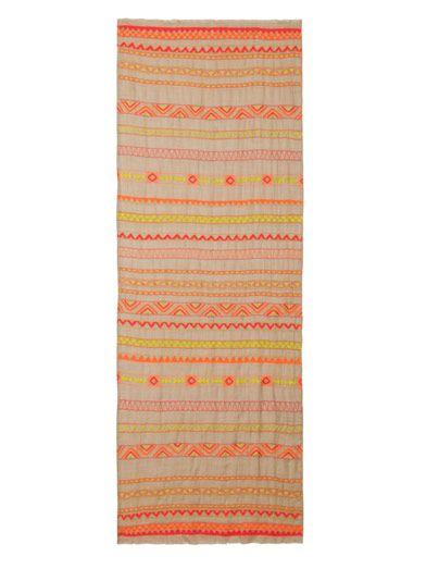 Janavi Hand embroidered cashmere scarf