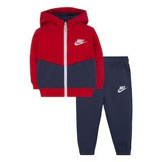 Baby Boy Nike Fleece Zip Hoodie & Jogger Pants Set
