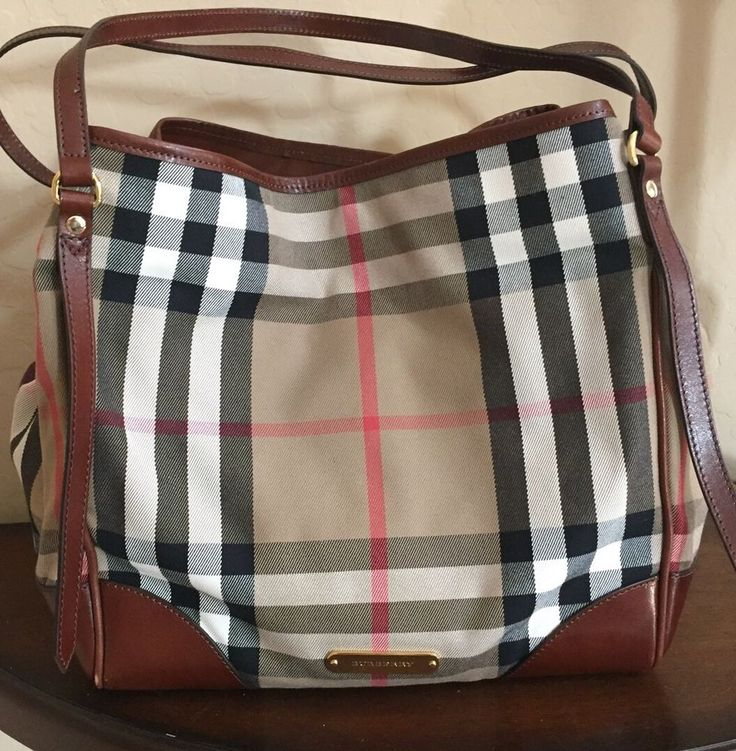 Burberry House Check Tote (retail $995) EUC Dark Tan #Burberry #TotesShoppers