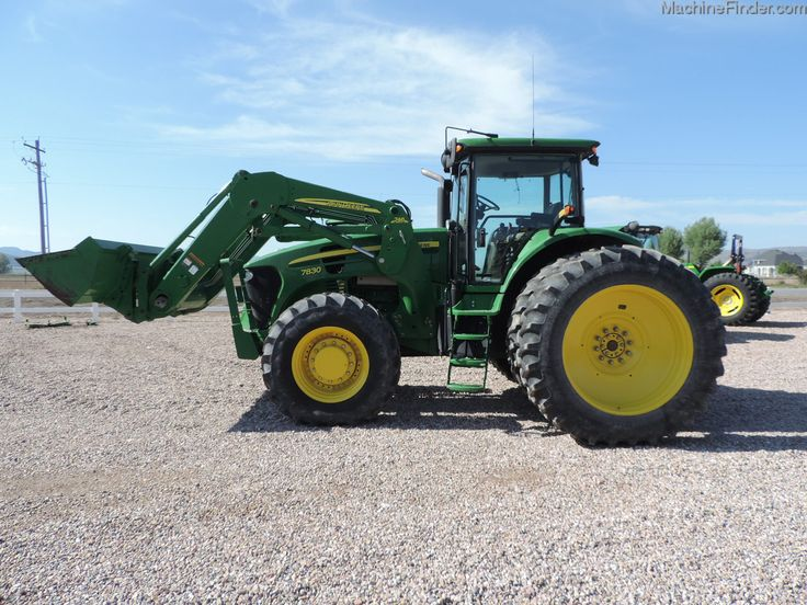 2007 JOHN DEERE 7830  $110,000 US HOURS: 2307 (MAY 13, 2015) 165 HP Cab / MFWD / Partial Power Shift / Guidance-ready: Yes / Duals / Tire Width: Mid / Loader: Yes Nice tractor with a 746 SL loader. Used / On Lot Stotz Equipment - NEPHI, UT 84648 - Used Row Crop Tractors - John Deere MachineFinder