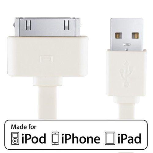 JETech Zertifiziert von Apple Lightning USB Kabel für APPLE iPhone 4/4S, iPhone 3G/3GS, iPad 1/2/3, iPod, 1 Meter (Weiß) - http://schmuckhaus.online/jetech/jetech-zertifiziert-von-apple-lightning-usb-fuer