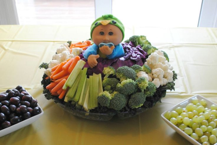 The Cabbage Patch Vegetable Tray I created for my sister in laws's baby shower.