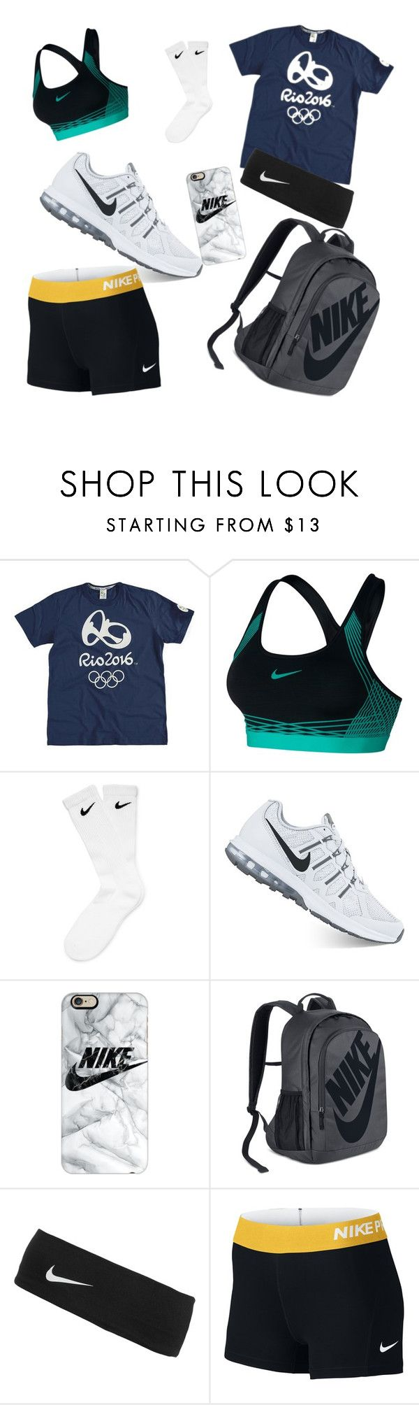 """""""volleyball practice after school"""" by maddypoodles ❤ liked on Polyvore featuring NIKE and Casetify"""