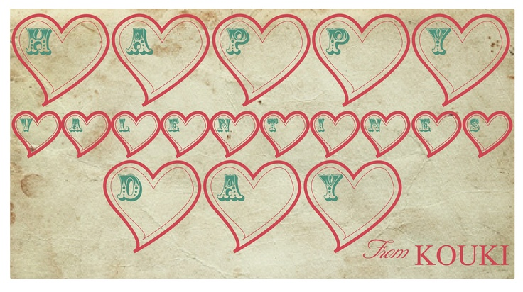 Happy Valentines by KOUKI graphic design
