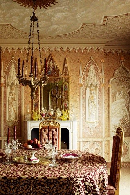 621 best victorian gothic house designs images on pinterest for Gothic revival interior