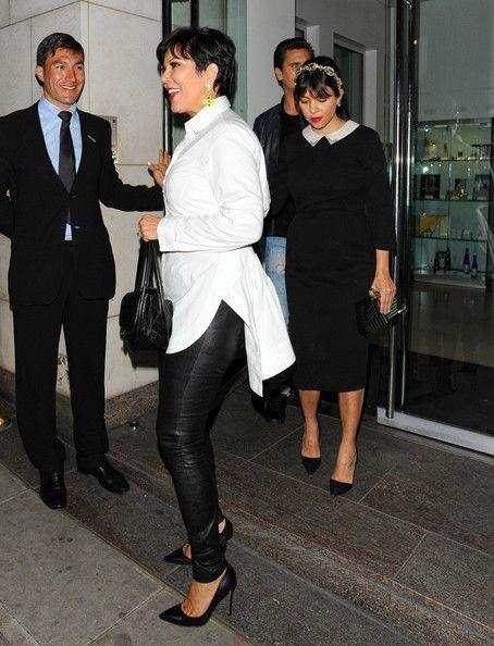 Kris Jenner - The Kardashians Get Dinner in London