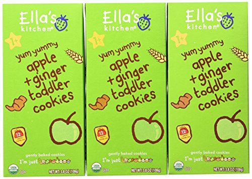 Ella's Kitchen Organic Toddler Cookies, Apple   Ginger, 12 Count (Pack of 6) >>> Discover this special deal, click the image : Baking Desserts recipes