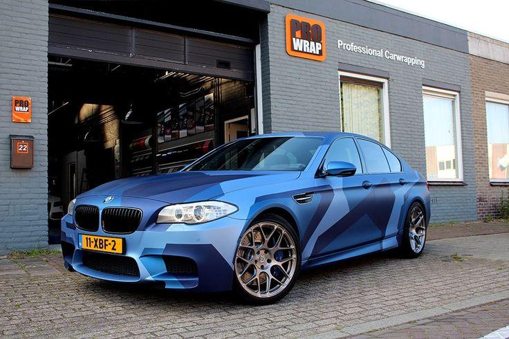 Blue Camo M5 Wrap | Wrapfolio