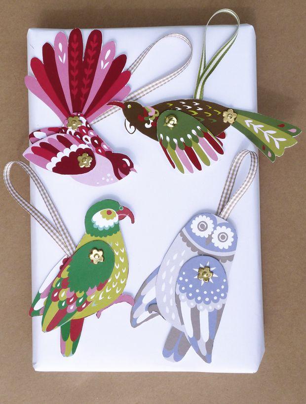 DIY CHRISTMAS ORNAMENTS   ... christmas range a new zealand birds diy christmas decorations and