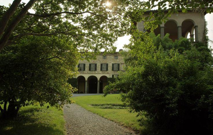 Palazzo Monti della Corte visto dal grande Parco