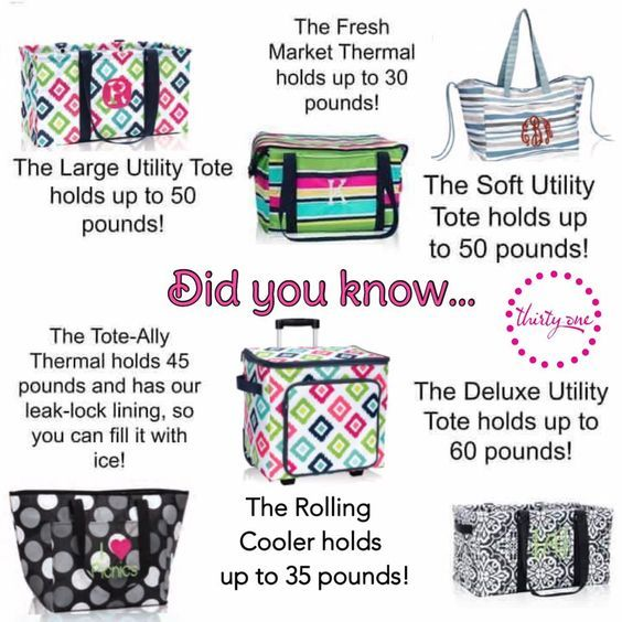 Strong bags for strong women. Thirty One.  https://www.mythirtyone.com/loribush
