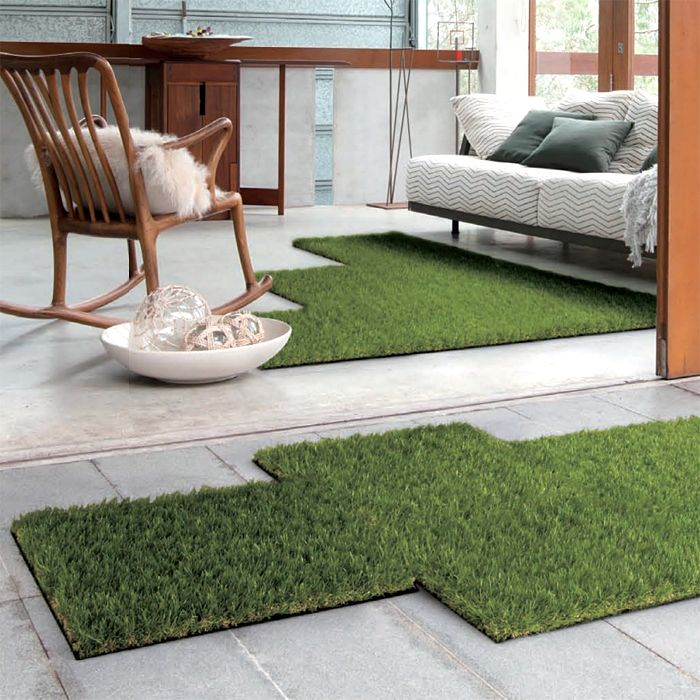 Synthetic lawn outdoor rug for balcony