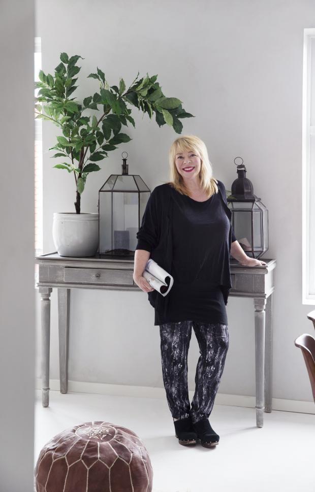Tone Kroken in her Oslo apartement.