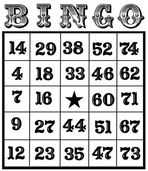 free vintage printable numbers | Free Bingo Cards for you! | Thefrugalcrafter's Weblog