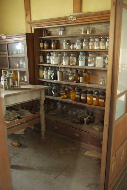 Abandoned pharmacy. pic doesn't go anywhere useful to explain more, but still cool.