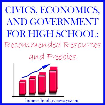 Civics, Economics and Government for Highschool: Recommended Resources and Freebies!
