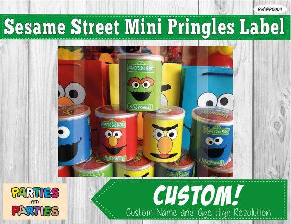 50% OFF - Sesame Street printable mini pringles label, elmo pringles label, personalized pringles, elmo mini pringles, elmo party supplies