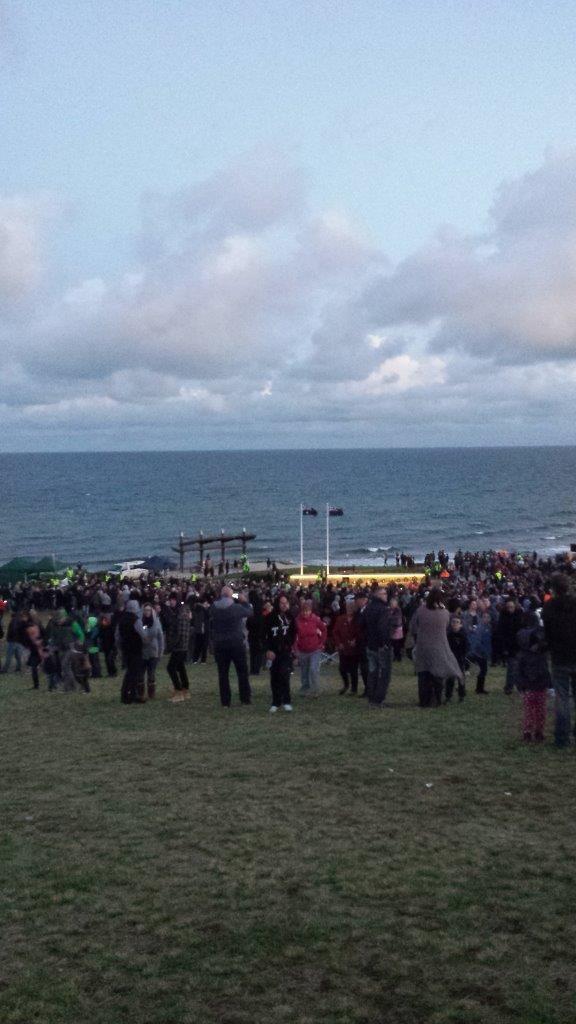 #HallettCove #ANZACday dawn service overlooking the #beach. #SouthAustralia #FleurieuPeninsula