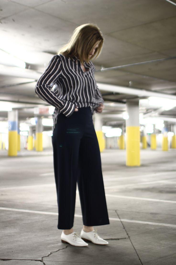 Paletti Boutique SLC  #fashion #style #outift #ootd #culotte #oxford #stripes #blouse #navy #womensfashion #springfashion #wideleg #urban #stylish #chic #classic #professional #advancedstyle #wardrboe #designer #highend #shopping #PALETTI #SLC