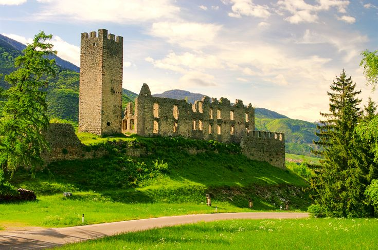 Belfort Castle in Trentino  Castles are thick on the ground in the region around Trento, but Belfort Castle may be one of the most romantic. Built in the 14th century, and possibly earlier, today, all that's left of the grand fortress is ruins.