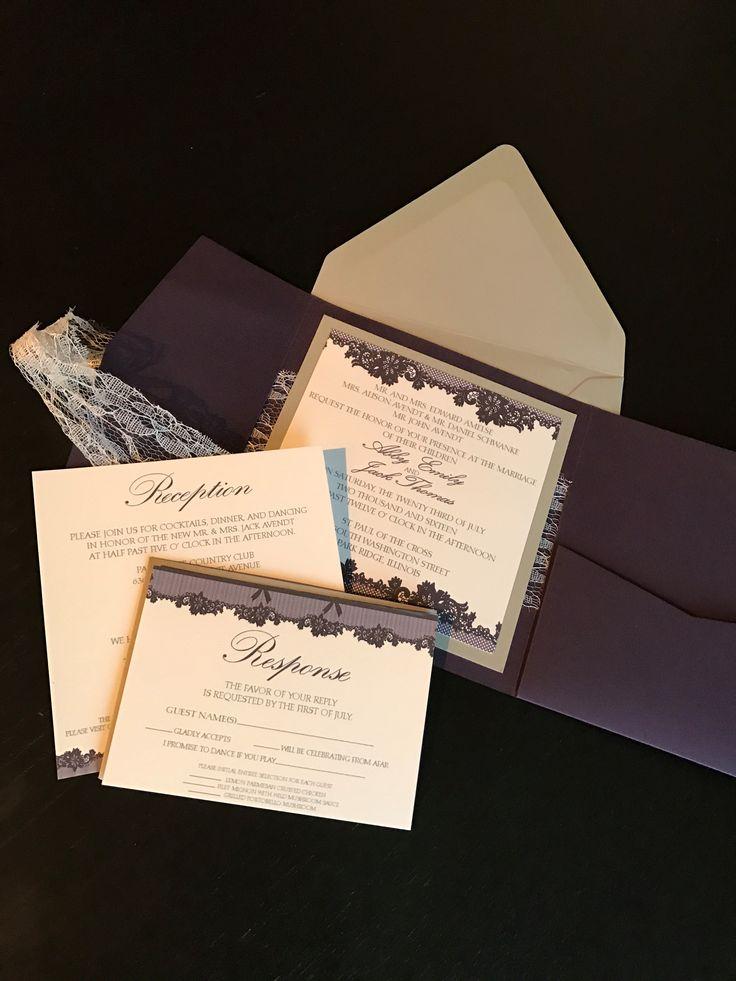 bed bath and beyond wedding invitation kits%0A elegant lace wraparound wedding invitations www nicolereyesdesign etsy com