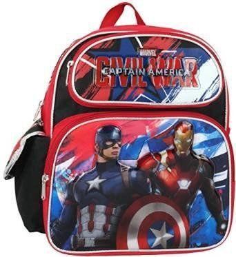 Marvel Captain America Civil War 12' Toddler Backpack. #Marvel #Captain #America #Civil #Toddler #Backpack