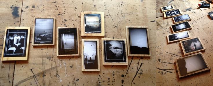 New small frames on wood... | FOR Fiebre del oro | New exhibition for summer 2013 | Cabo de Gata |