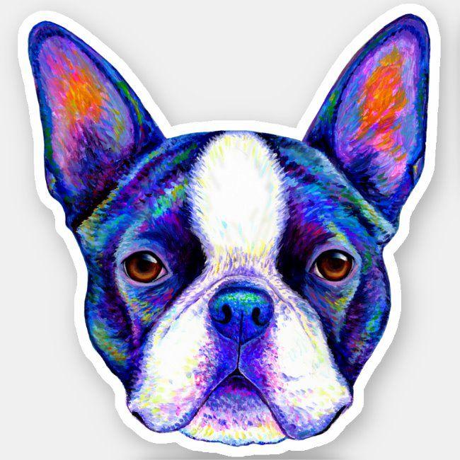 Boston Terrier Sticker Boston Terrier Terrier Dog Lover Gift Guide