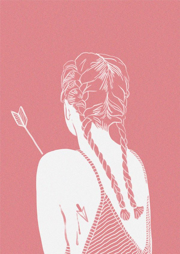 selected illustrations on Behance Xô cupido #xo